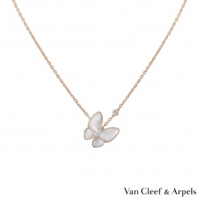 Van Cleef & Arpels Mother of Pearl & Diamond Fauna Pendant VCARO8FO00